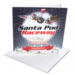 Dragster Christmas Card