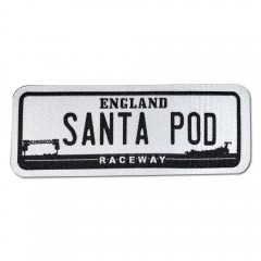 Number Plate Woven Badge
