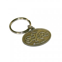 Metal Oval Keyring