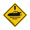 Warning Sticker - Infectious Bugs