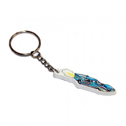 Rubber Cartoon FireForce 3 Jet Car Keyring
