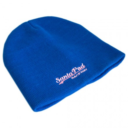 Womens Blue Swoosh Wooly Hat
