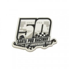 50th Anniversary Race Logo Rubber Magnet