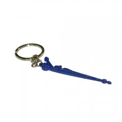Coloured Dragster Keyring