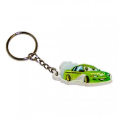 Rubber Cartoon Drift Car Keyring