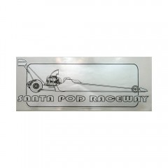 Silver Top Fuel Dragster Window Sticker